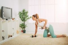 Woman Doing Exercises Stock Image