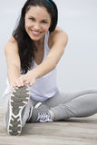 Woman doing exercises Royalty Free Stock Images