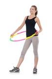 Woman doing exercises Stock Photos