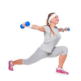 Woman doing exercises with weight Royalty Free Stock Photo
