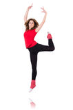 Woman doing exercises Stock Images