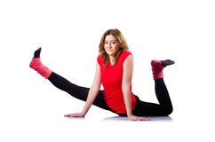 Woman doing exercises Stock Photography