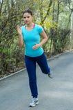 Woman doing exercises Stock Image