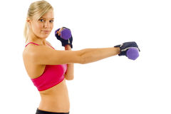 WOMAN DOING FITNESS Stock Photo