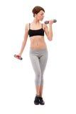 Woman doing fitness Stock Photos