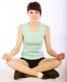 Woman doing fitness Stock Image