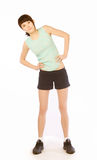 Woman doing fitness Royalty Free Stock Photos