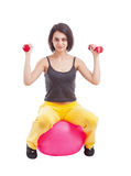 Woman doing fitness Royalty Free Stock Photo