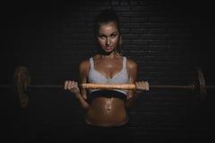 Woman doing a fitness Stock Photos