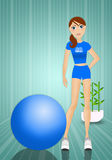 Woman doing fitness with ball Royalty Free Stock Photo