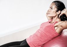 Woman doing fitness exercise Stock Photography