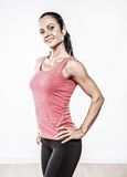 Woman doing fitness exercise Royalty Free Stock Images