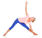 Woman doing fitness exercise Stock Photo