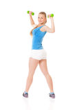 Woman doing fitness exercise Stock Image
