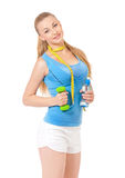 Woman doing fitness exercise Royalty Free Stock Photography