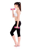 Woman doing fitness exercises Royalty Free Stock Images