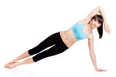 Woman doing fitness exercises Royalty Free Stock Image