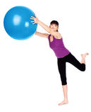 Woman doing fitness exercises royalty free stock photography