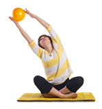Woman doing fitness  exersise Stock Photos