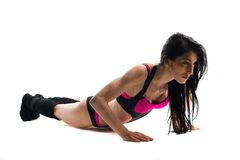 Woman doing fitness isolated Royalty Free Stock Photography