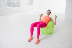 Woman doing fitness royalty free stock image