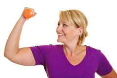 Woman doing fitness training Royalty Free Stock Photo