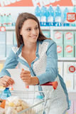 Woman doing grocery shopping Stock Photography