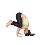 Woman doing handstand Royalty Free Stock Image