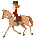 Woman doing horseback riding Royalty Free Stock Images