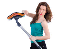 Woman doing housekeeping stuff Stock Photos