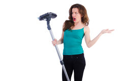 Woman doing housekeeping stuff Royalty Free Stock Photo