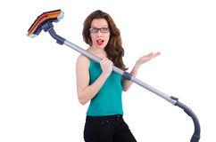 Woman doing housekeeping stuff Stock Photo