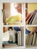 Woman doing housework royalty free stock photos