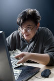 Woman Doing Internet Shopping Stock Image