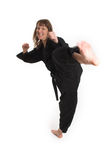 Woman doing karate Royalty Free Stock Image