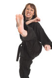 Woman doing karate Royalty Free Stock Photography