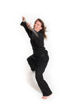 Woman doing karate Stock Photography