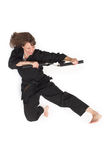 Woman doing karate Royalty Free Stock Photo