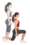 Woman Doing Lunges Stock Photography