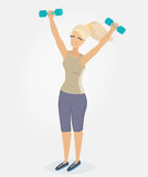 A woman doing morning exercises Royalty Free Stock Photos