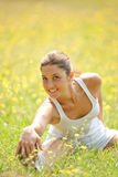Woman doing physical exercise Royalty Free Stock Image