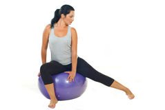 Woman doing pilates Stock Image