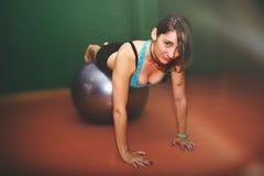 Woman doing pilates Stock Photos