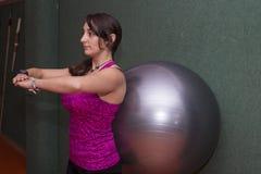 Woman doing pilates Stock Photo
