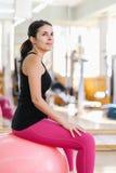 Woman Doing Pilates Exercises Royalty Free Stock Photos