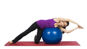 Woman doing pilates exercises for flexibility Stock Photography