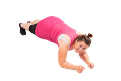 Woman doing plank Royalty Free Stock Photos