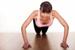 Woman Doing Press Ups Royalty Free Stock Photos