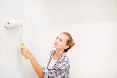 Woman doing repairs Stock Photo