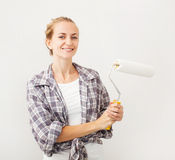 Woman doing repairs Royalty Free Stock Photos